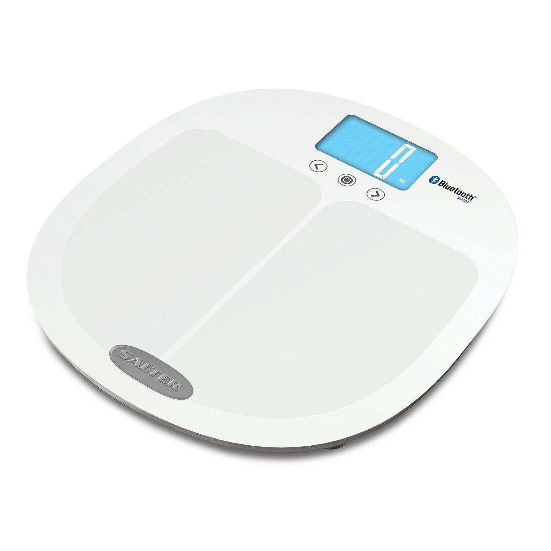 Salter Curve bleutooth Smart Analyseur électronique numérique salle de bains échelles Blanc