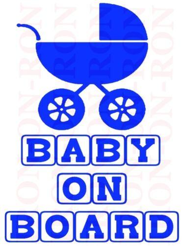 A5 BABY ON BOARD IRON ON TRANSFER MATERNITY PREGNANCY DESIGN 8X6 TRANSFER DESIGN