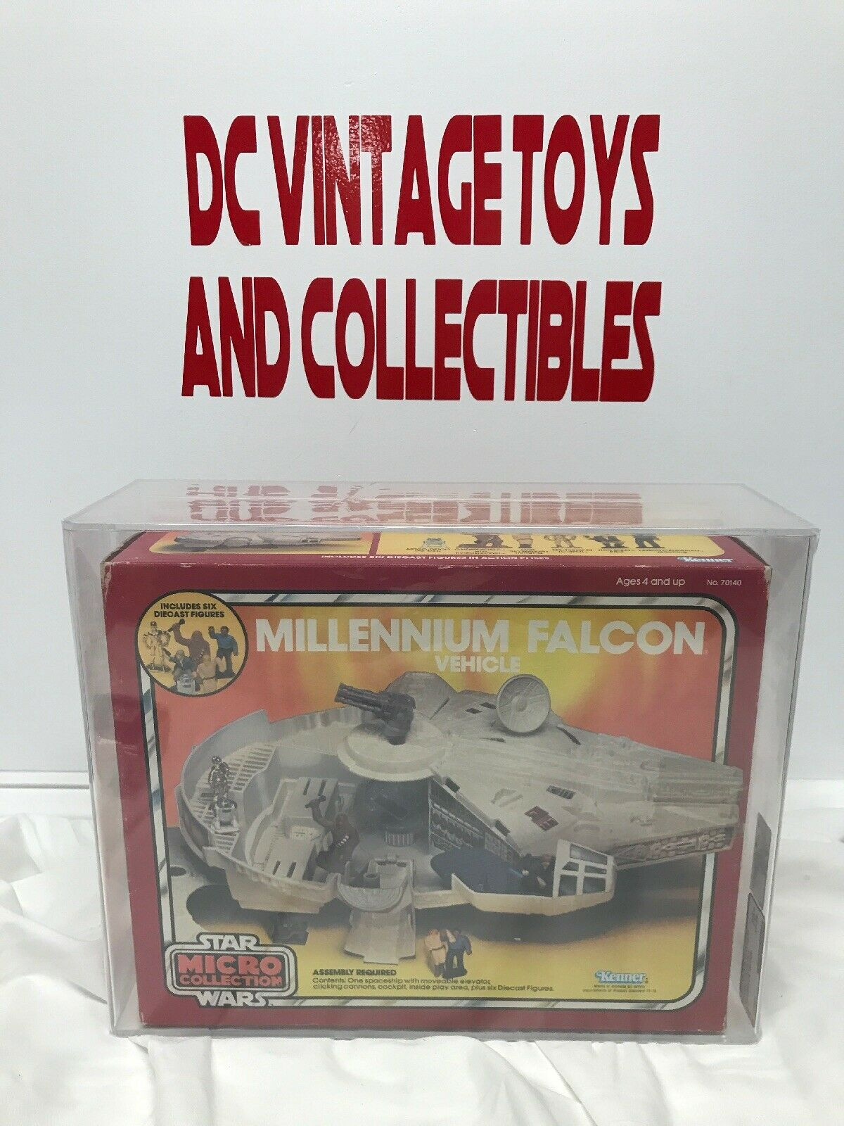 VINTAGE 1982 STAR WARS MILLENNIUM FALCON MICRO COLLECTION KENNER-Sealed-AFA 75+