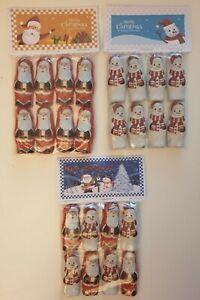 Novita-Cioccolato-Babbo-Natale-Pupazzo-di-Neve-Natale-Lamina-Calza-Filler-pre-riempite-Bags