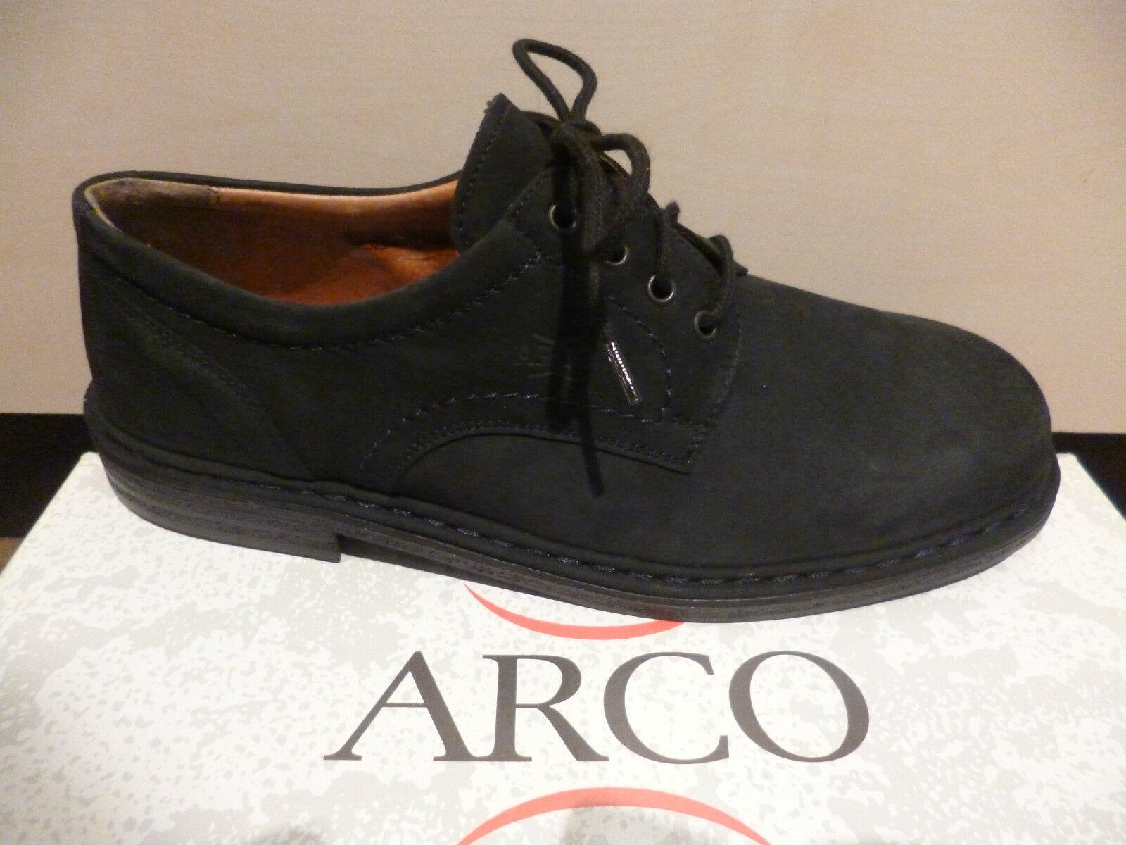 Arco Hombre Zapatos De Cordones Bajo Zapatillas CUERO AZUL TALLA 9 , 5/44 NUEVO