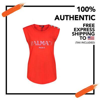 Balmain Women's T Shirt 100% Cotton