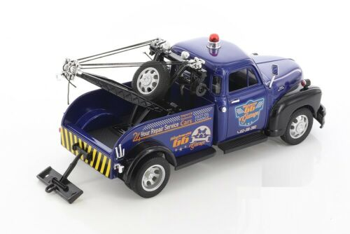 """4 Colors 1:24 8/"""" Welly Diecast Model Toy Car 1953 Chevrolet Tow Truck"""