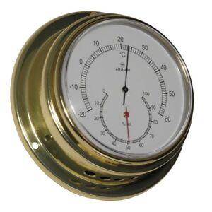 Haushaltsgeräte Kleingeräte Haushalt Altitude Maritimes Nautika Bootsport Haushalt Thermometer Hygrometer Messing