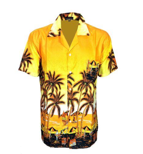 New Mens hawaiian Shirt Dress Vintage Aloha Fancy Stag Beach Shirts Funky Tops