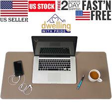 Waterproof Desk Pad Large Rectangular Leather Laptop Desk Keyboard Mat 17x36