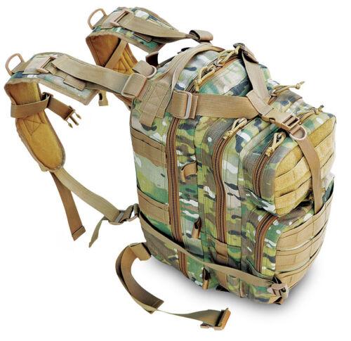 Explorer Tactical Assault Pack Combat Rucksack 17″ Military MOLLE Backpack 27L