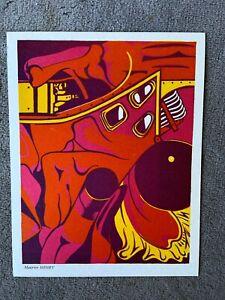 Maurice HENRY-farblithographie-non firmato-molto raro