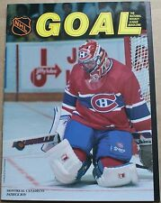 1991 NHL Goal Magazine Patrick Roy Montreal Canadiens Cover NM