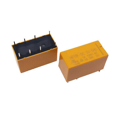10pc Miniature Power Relay HK19F-DC12V-SHG 8Pin Coil DPDT 1A 125V AC 2A 30V DC
