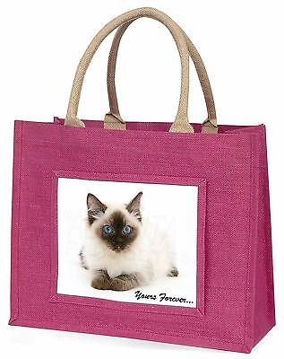 Ragdoll Katze dir für immer Große Rosa Einkaufstasche Weihnachtsgeschenk,