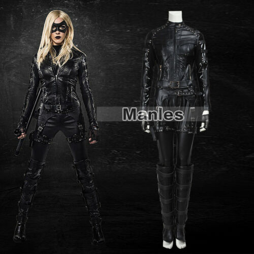 Green Arrow Season 4 Black Canary Cosplay Costume Dinah Laurel Party Outfits