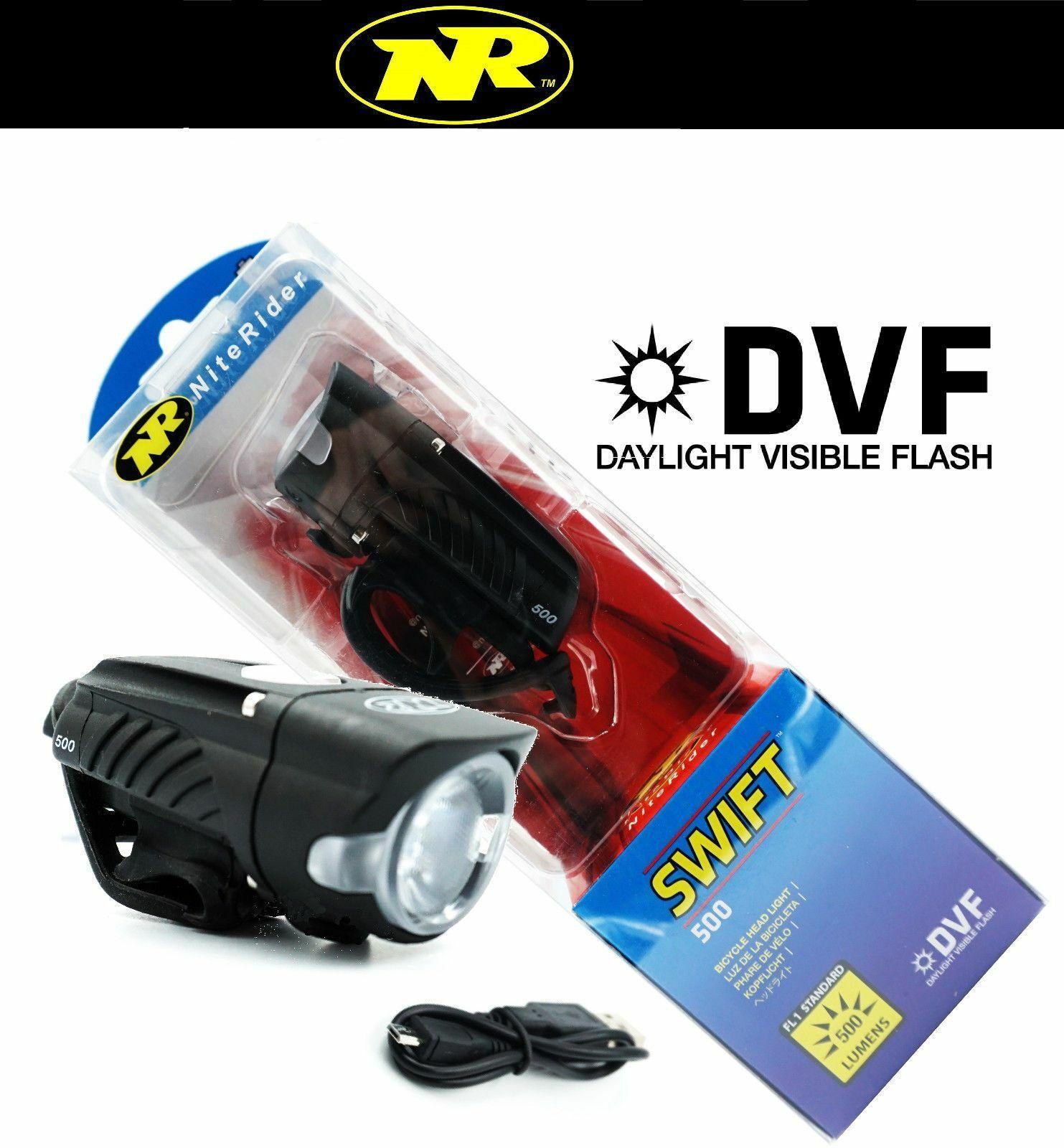 Niterider Swift 500 Lumens LED Bike Headlight Daylight Visible USB Rechargeable