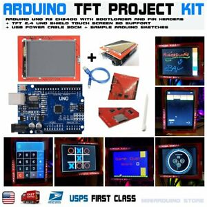 2-4-034-TFT-LCD-Display-Shield-Touch-Panel-Screen-Arduino-UNO-R3-ATmega328p-CH340g