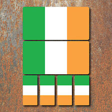 Irish Ireland Flag Laminated Sticker Set Small Car Motorcycle Mountain Bike