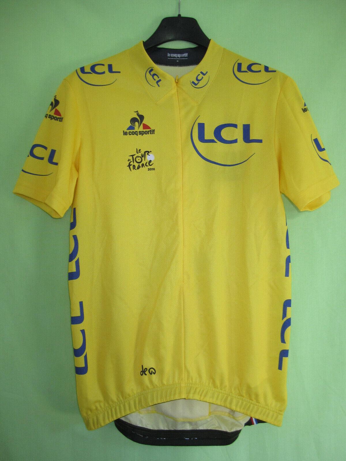 Gelb Radfahren jersey le coq sportif tour de france 2016 vintage jersey-m