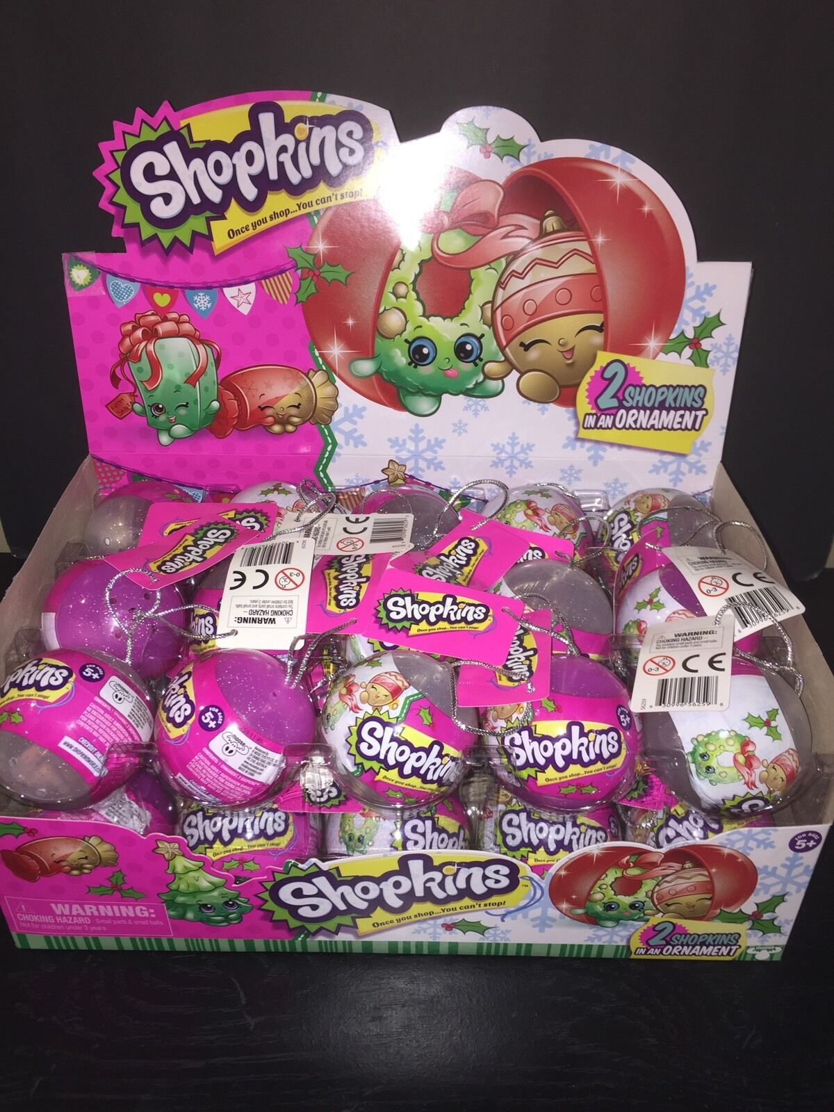 Shopkins CHRISTMAS Ornament Blind Box Basket Full Case of 30 (Mystery Mini) New