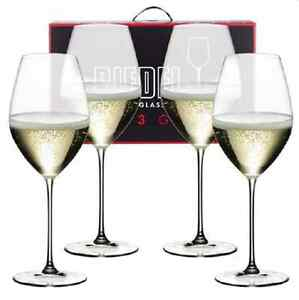 266fd4a60a22 NEW RIEDEL VERITAS CHAMPAGNE GLASS SET OF 4 GLASSES GLASSWARE ...