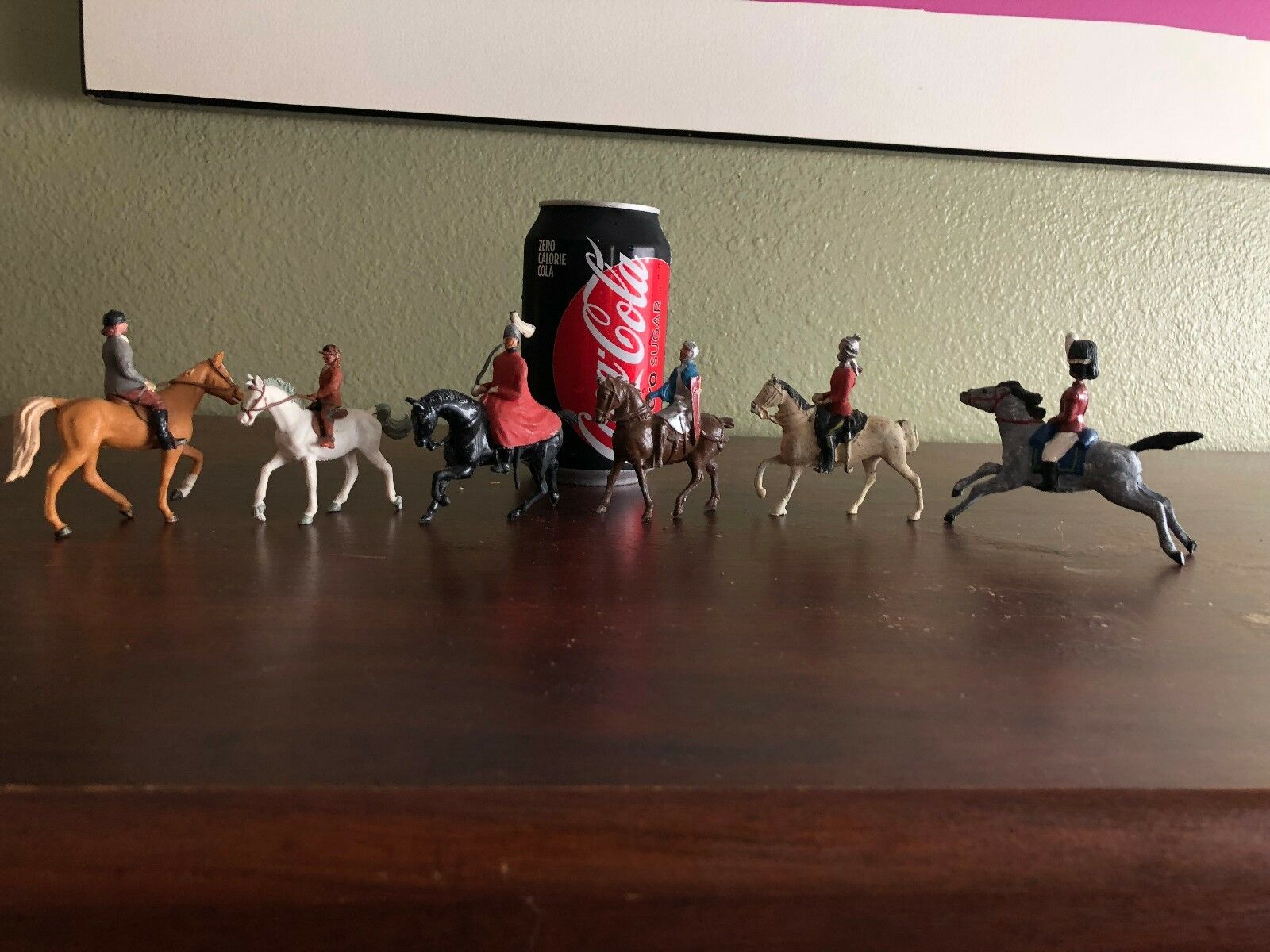 Lot of 6 Vintage Horse Soldier Rider Rider Rider Figurines Figure 17da6b