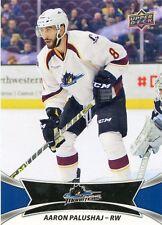16/17 UPPER DECK AHL #70 AARON PALUSHAJ CLEVELAND MONSTERS *30991