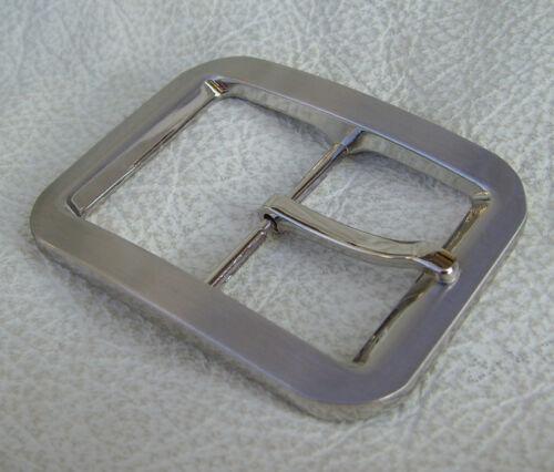 Massive boucle de ceinture en zinc-alliage chromé et poli pour 4 cm Ceinture
