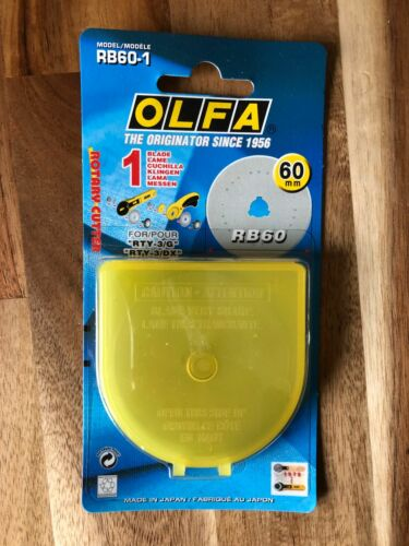 Olfa 60mm x 1 Replacement Straight Blade for Rotary Cutter