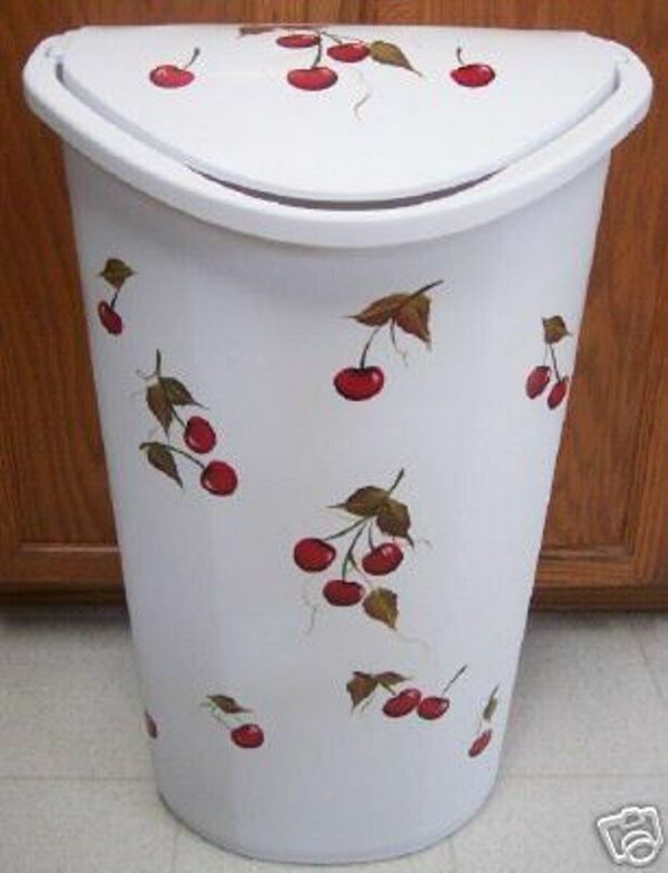 HP CHERRY TRASH CAN LAUNDRY HAMPER NEW ITEM BY MB