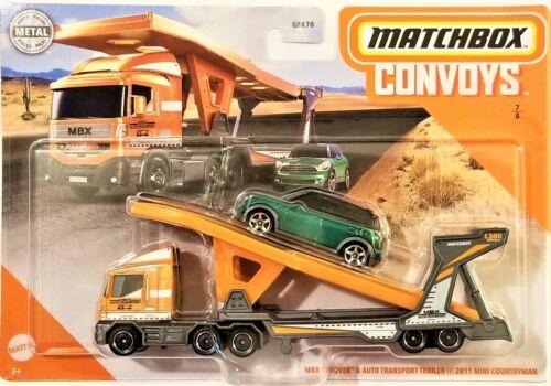 Matchbox Convoys MBX Cabover /& Auto Transport Trailer /& 2011 Mini BBGMD06