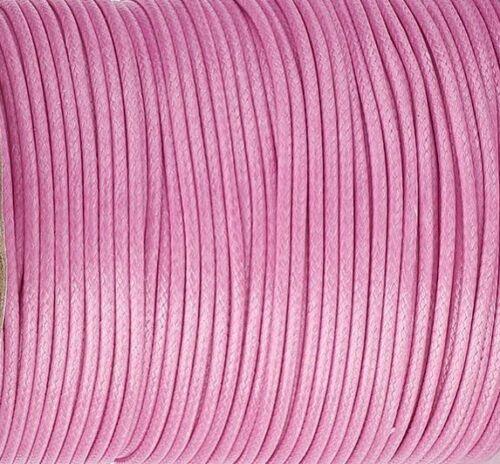 Coloris au choix 5 Mètres 5m Cordon Ciré 0.5mm fil polyester tressé