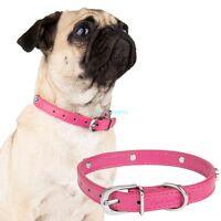 Magenta Alloy Paw Print Pet Cat Puppy Dog Collar Neck Buckle Adjustable S M L