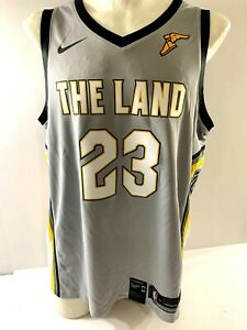 464410aca Nike Lebron James The Land City Edition Swingman Cavaliers Jersey XL ...