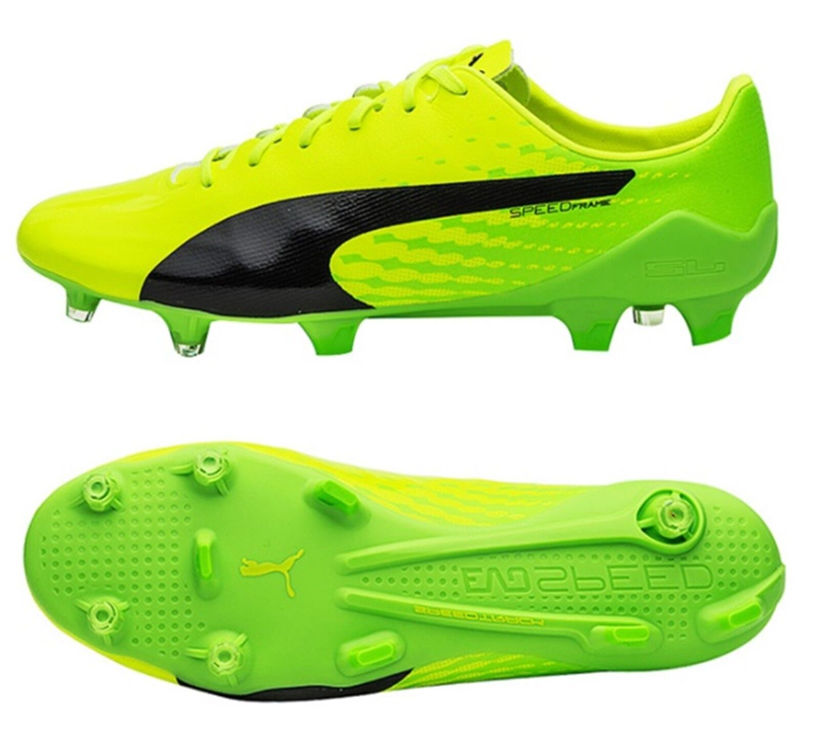 PUMA Men evoSPEED 17 SL S FG Cleats Soccer Grün Soccer Cleats Football Schuhes Spike 104010-01 f0fc93