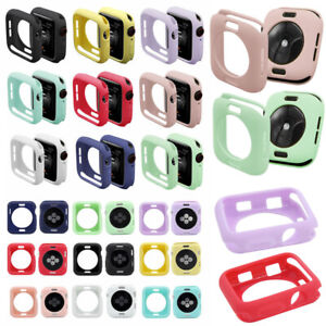 Silicone-Case-For-Apple-Watch-Series-5-4-3-2-Shockproof-Bumper-Ultra-thin-Cover