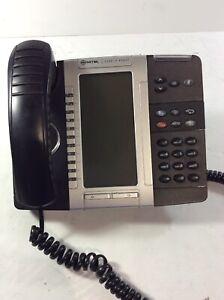 Mitel-5330-VoIP-Black-IP-Business-Phone-PoE-with-Corded-Handset-amp-Stand-AD