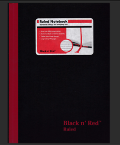 5 Notebooks Oxford Black n Red A6 Hardback Casebound Notebook Ruled 192 Page
