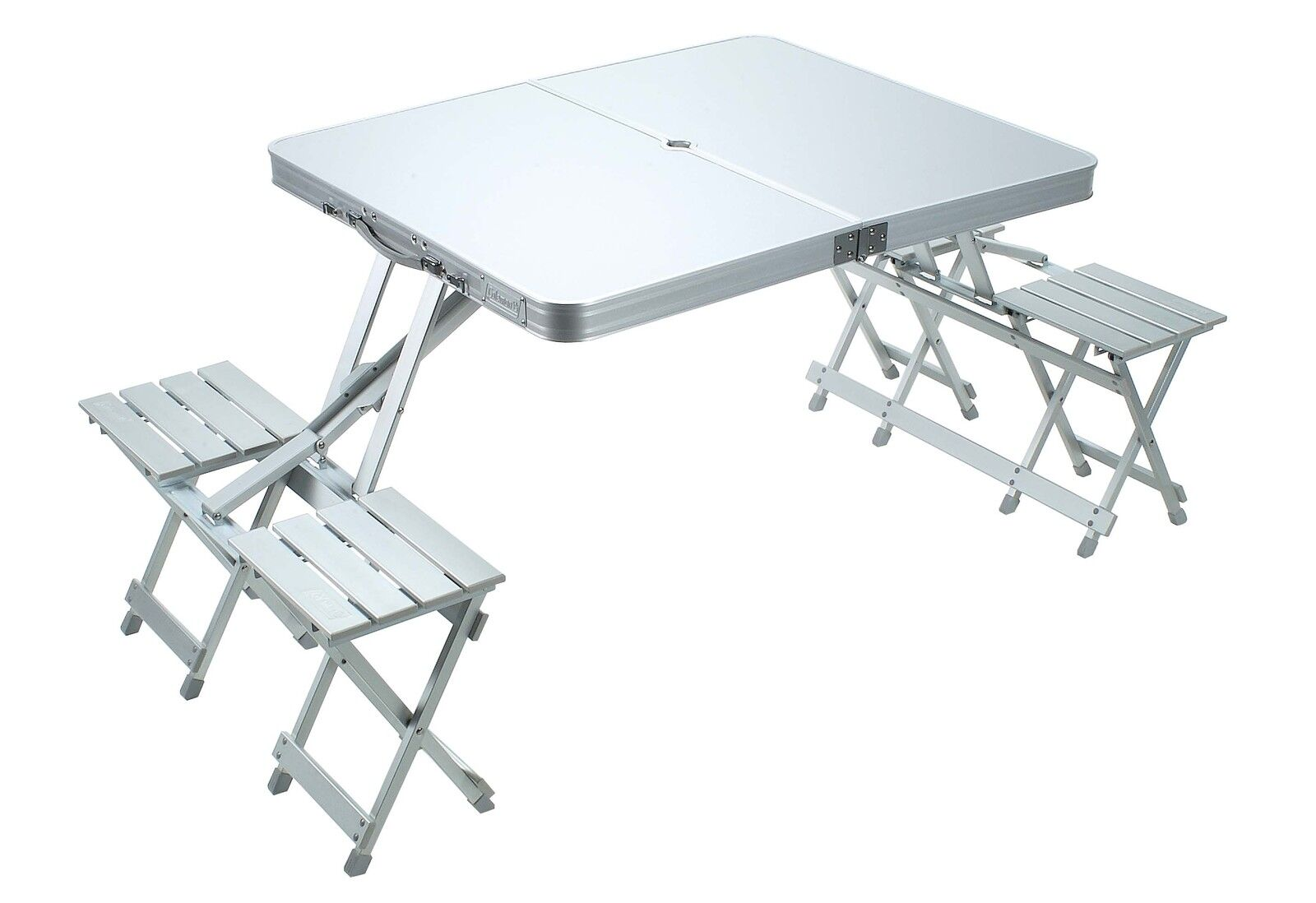 NEW Compact ALUMINIUM FOLDING TABLE 4-SEAT CAMP CAMP CAMP Outdoor Picnic Caravan 0336f0