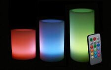 MULTICOLOUR LED CANDLES WITH REMOTE SET OF 3 Can Be Used As Single Color DIWALI