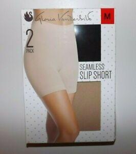 Gloria Vanderbilt Seamless Slip Short 2 Pack Size M New w