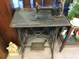 ANTIQUE 1891 SINGER FIDDLE TREADLE FACE PLATE and FRONT PLATE with SCREWS GC