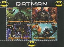"BATMAN 6"" x 4.5"" JOKER CATWOMAN COMIC REPUBLIQUE DU BENIN 2014 STAMP SHEETLET"