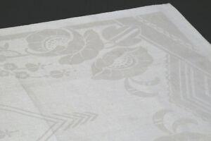 Supergroßes Antikes Ziertuch Leinen handgewebt Mono CF 90x145