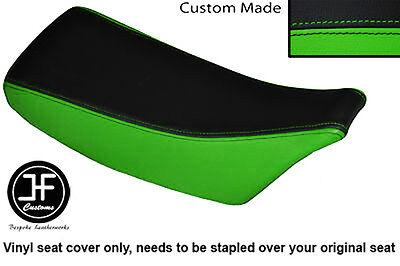 BLACK /& LIGHT GREEN AUTOMOTIVE VINYL CUSTOM FITS KAWASAKI KX 60 DUAL SEAT COVER