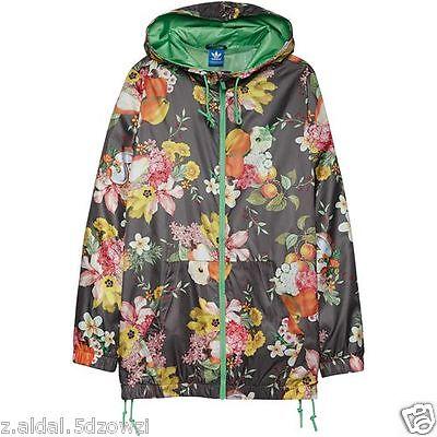 1b1037c7e9 Adidas Originals W Jardim Fruta Windbreaker Jacket Size UK 14 New (158)