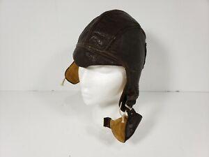 44a99a7f109 Original WW2 USN Navy Pilot Flight Leather Helmet NAF 1092 Slote ...