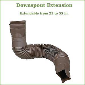 Vinyl Roofing Downspout Extension Flexible Water Drain