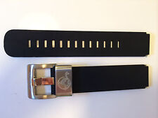 Watch Strap Band 18Mm Silicone Rubber Black Steel Loop Fit Vostok Amphibian
