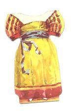 Buttermilk Toilet soap paper dress for paper doll