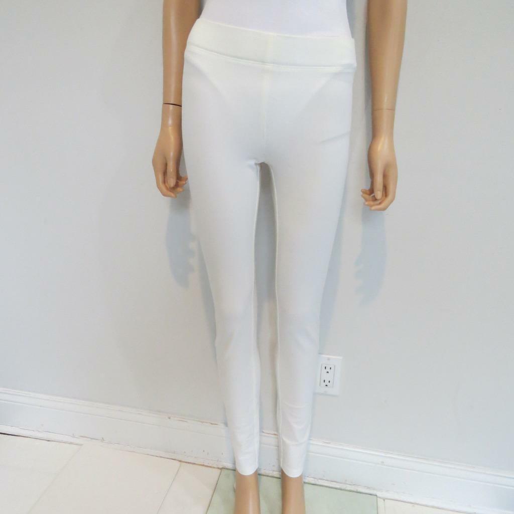 Joseph Off-White Cotton Blend Light Gabardine Stretch Leggings Pants, Size F36