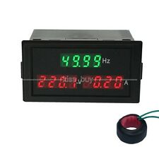 AC 80-300v 100A digital LED AC Voltage Current Frequency Combo Meter 110v 220v