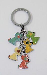 Llavero-5-Colgantes-Esmaltados-Multicolor-Cachorros-Perros-Mujer-Detalles
